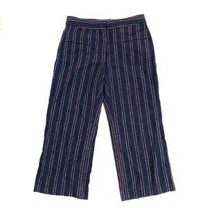 Carven Linen Blend Cropped Beach Pants